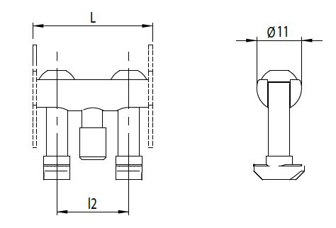 Bolzenverbinder 30 Nut 8 D11mm Image