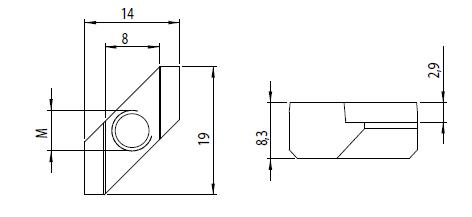 Rhombusmutter M6 Nut 8 Image