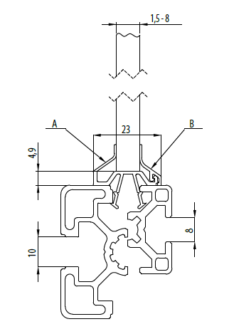 Clipleiste (B) Nut 8/10 Image
